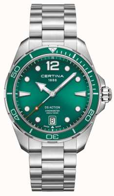 Certina Cronometro Ds quadrante verde C0324511109700