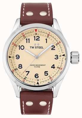 TW Steel | uomo | volante svizzero | quadrante color crema | cinturino in pelle marrone | SVS101