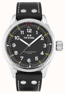 TW Steel | uomo | volante svizzero | quadrante nero | cinturino in pelle nera | SVS103