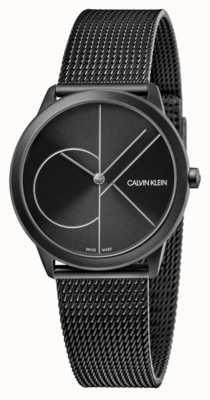 Calvin Klein Unisex | minimo | maglia nera in pvd | quadrante nero K3M5245X