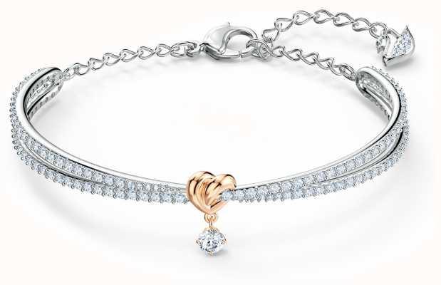 Swarovski | cuore per tutta la vita | metallo misto | braccialetto | bianca 5516544