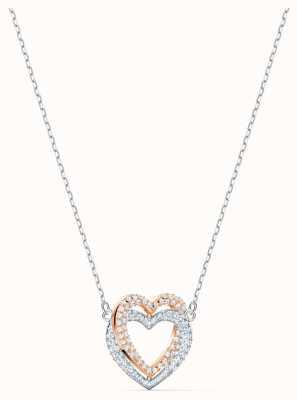Swarovski | collana cuore infinito | bianco | finitura metallo misto 5518868