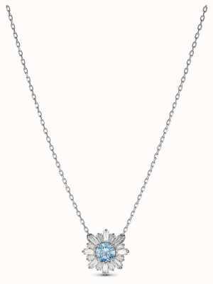 Swarovski | sole | placcato rodio | cristallo blu | ciondolo | 5536742