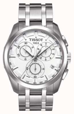 Tissot Cronografo da uomo couturier in acciaio inossidabile quadrante argento T0356171103100