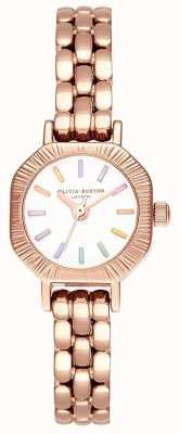 Olivia Burton | bracciale arcobaleno oro rosa pallido | quadrante bianco | OB16CC50