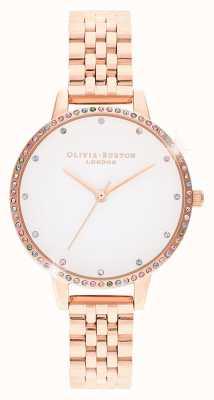 Olivia Burton | donne | lunetta arcobaleno | bracciale in oro rosa | OB16RB21