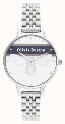 Olivia Burton | donna | ape fortunata varsity | braccialetto d'argento | OB16VS07