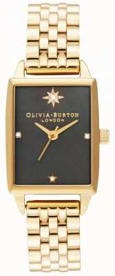 Olivia Burton | finto celeste | quadrante in madreperla nera | bracciale in oro OB16GD60