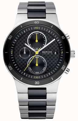 Bering | uomo | bracciale in acciaio ceramico | orologio cronografo | 33341-749