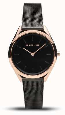 Bering | unisex | ultra-sottile | bracciale a maglie nere | 17031-166
