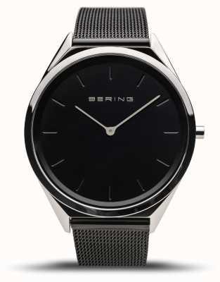 Bering | unisex | ultra-sottile | braccialetto a maglie nere | 17039-102