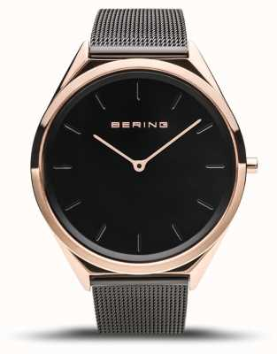 Bering | unisex | ultra-sottile | bracciale a maglie nere | 17039-166