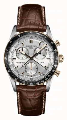 Certina Cronografo Ds-2 cinturino in pelle marrone 1/100 sec C0244472603100