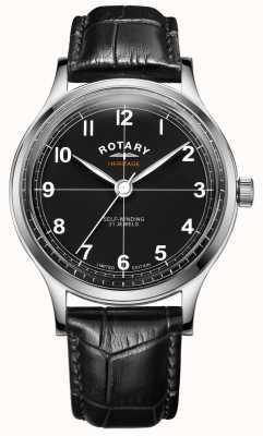 Rotary Heritage in edizione limitata da uomo | cinturino in pelle nera | GS05125/04
