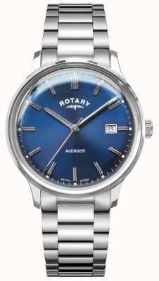 Rotary Vendicatore maschile | bracciale in acciaio inossidabile quadrante blu GB05400/05
