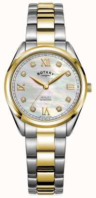 Rotary Henley delle donne | quadrante con diamanti | bracciale bicolore | LB05111/41/D