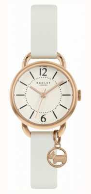 Radley | cinturino in pelle bianco da donna | quadrante champagne | RY2984