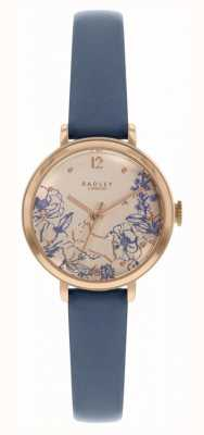 Radley | cinturino in pelle da donna blu navy | quadrante stampa floreale | RY2978