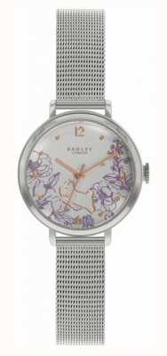 Radley | bracciale da donna in maglia di acciaio | quadrante stampa floreale RY4523