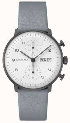 Junghans Cronoscopio max bill | Ex-display in bianco e nero da 40 mm 027/4008.05 Ex-Display