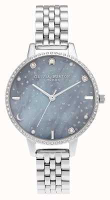 Olivia Burton Bracciale in argento con quadrante demi cielo notturno OB16GD65