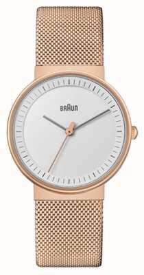 Braun Donna | classico | maglia pvd oro rosa | quadrante bianco BN0031RGMHL