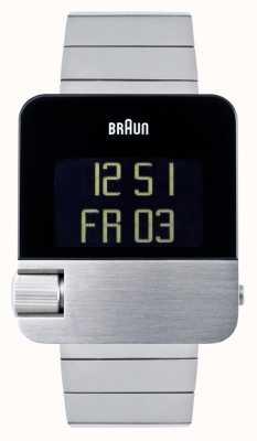 Braun Uomo | prestigio | digitale | bracciale in acciaio inossidabile BN0106SLBTG
