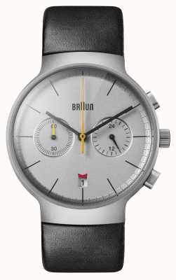 Braun Uomo | classico | cronografo | pelle nera BN0265SLBKG