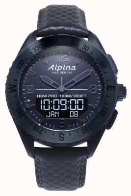Alpinarx | edizione spaziale | smartwatch | cinturino in pelle blu AL-283SEN5NAQ6
