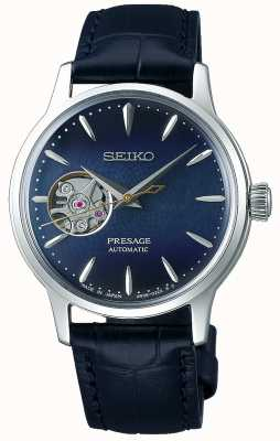 Seiko | presagio signore meccanico | pelle di vitello blu | quadrante blu SSA785J1
