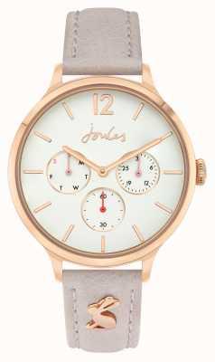 Joules | cinturino in pelle rosa | quadrante bianco | JSL001ERG