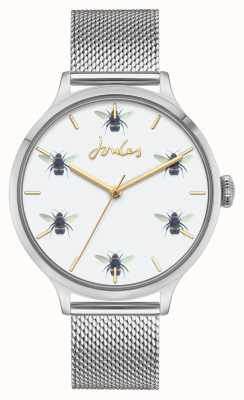 Joules | maglia di acciaio inossidabile | quadrante bianco dell'ape JSL030SM