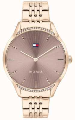 Tommy Hilfiger Grigio | bracciale in oro rosa placcato a ioni | quadrante color talpa 1782212