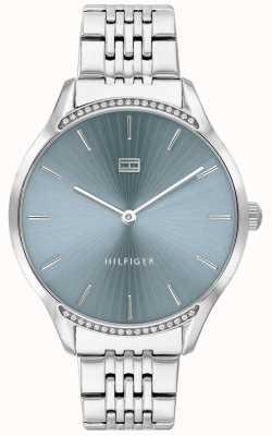 Tommy Hilfiger Grigio | bracciale in acciaio inossidabile quadrante blu | 1782210