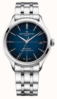 Baume & Mercier | clifton baumatic | bracciale in acciaio inossidabile quadrante blu | M0A10468