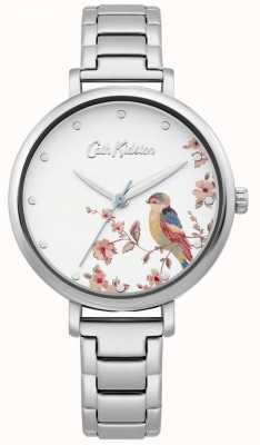 Cath Kidston Bracciale da donna in acciaio inossidabile quadrante uccello argento CKL099SM