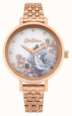 Cath Kidston | somerset femminile | braccialetto placcato in oro rosa | quadrante floreale CKL087RGM