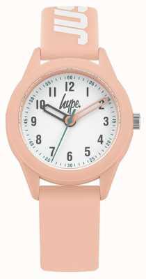 Hype | cinturino in silicone rosa | quadrante bianco | HYK005P