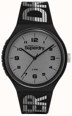 Superdry | urban xl racing | cinturino in silicone nero | quadrante grigio | SYG269BE