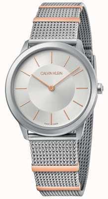 Calvin Klein | minimo | bracciale a maglie d'acciaio | quadrante argentato | 35 millimetri K3M521Y6