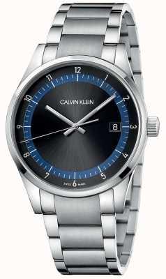 Calvin Klein | completamento | bracciale in acciaio inossidabile quadrante nero / blu | KAM21141
