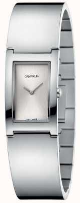 Calvin Klein | polacco | bracciale in acciaio inossidabile quadrante rettangolare argento K9C2N116