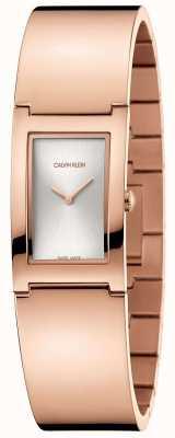 Calvin Klein | polacco | bracciale in acciaio placcato oro rosa | quadrante argentato | K9C2N616