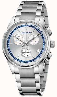 Calvin Klein | completamento | bracciale in acciaio inossidabile | quadrante argento / blu | KAM27146