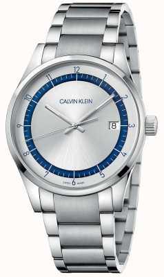 Calvin Klein | completamento | bracciale in acciaio inossidabile argento quadrante argentato KAM21146