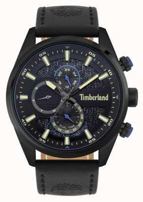 Timberland | cercatori all'aperto | cinturino in pelle nera | quadrante nero / blu | 15953JSB/02