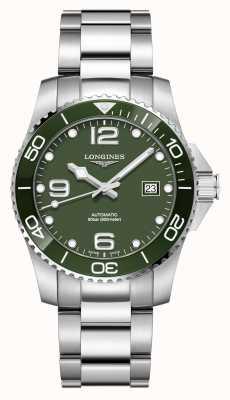 Longines Hydroconquest 41mm automatico | quadrante verde | acciaio inossidabile L37814066