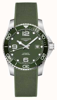 Longines Hydroconquest 41mm | quadrante verde | cinturino in caucciù L37814069
