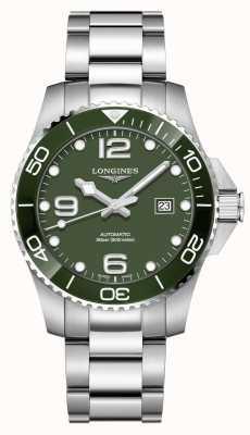 Longines Hydroconquest 43mm automatico | quadrante verde | acciaio inossidabile L37824066