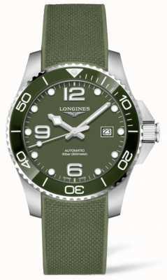 Longines Hydroconquest 43mm | quadrante verde | cinturino in caucciù L37824069